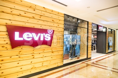 KUALA LUMPUR, MALAYSIA, May 20, 2016: Levi's outlet at KLCC, Kuala Lumpur.  Founded in 1853, Levi Strauss is an American clothing company known Stock Photo