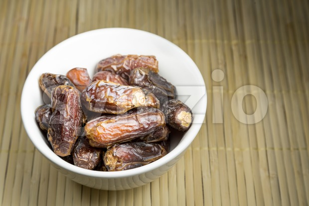 Sweet dates, common break fast food among Muslim during Ramadan Stock Photo