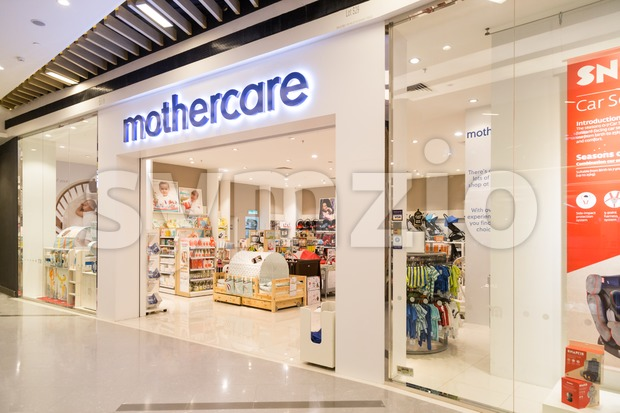 KUALA LUMPUR, MALAYSIA, JULY 16, 2016: Mothercare is an international retailer for parents and young children with 1500 stores across 60 countries. Stock Photo