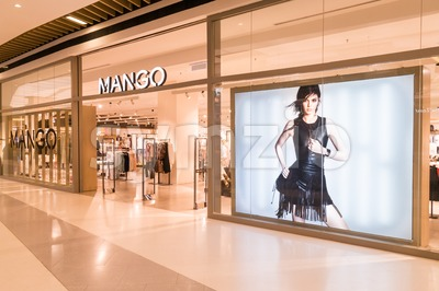 KUALA LUMPUR, MALAYSIA, JULY 16, 2016: Mango is an international fashionable apparel retailer with stores all over the world Stock Photo