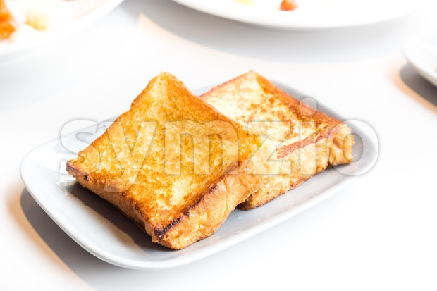 Simple delicious French toast bread breakfast