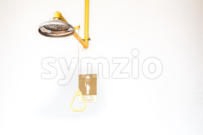 Emergency shower station Stock Photo