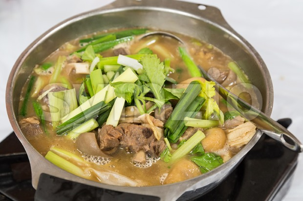 Hot pot lamb stew popular delicacy during winter in Hong Kong