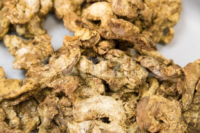 Dried old ginger beneficial for health Stock Photo