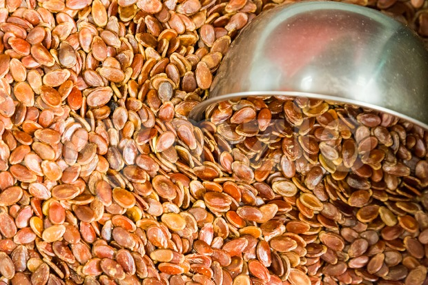 Red dried melon seed popular snack during Chinese New Year Stock Photo