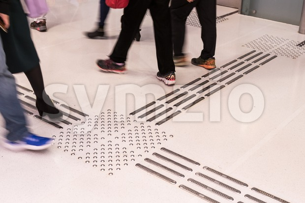 Indoor tactile paving foot path for the blind and vision impaired handicap in Hong Kong