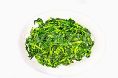 Chinese stir fry snow pea bean sprout with garlic Stock Photo