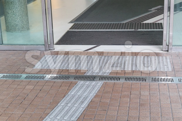 Outdoor tactile paving foot path for the blind and vision impaired handicap in Hong Kong