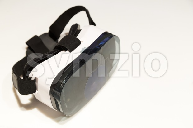 Virtual reality VR glasses gadget glasses on white background Stock Photo