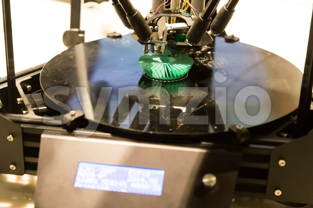3D printer printing model objects using additive process technology
