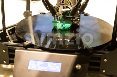3D printer printing model objects using additive process Stock Photo