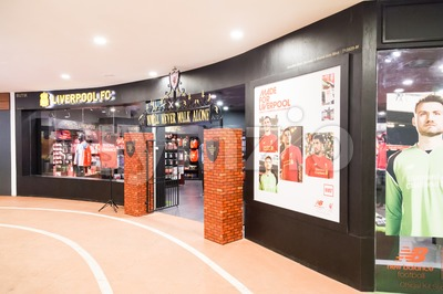 KUALA LUMPUR, MALAYSIA -  January 29, 2017: Liverpool FC retail store in Lot 10 offers authentic football kits to LFC fans in Malaysia Stock Photo