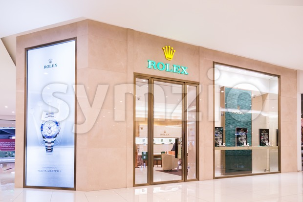 KUALA LUMPUR, MALAYSIA -  January 29, 2017: Rolex SA with its outlet in Kuala Lumpur, retail and service wristwatches under Rolex and Tudor brands Stock Photo