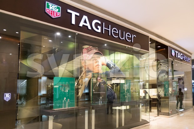 KUALA LUMPUR, MALAYSIA -  January 29, 2017: TAG Heuer S.A., a Swiss manufacturing company with outlet in Kuala Lumpur,  Malaysia Stock Photo