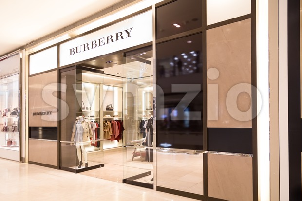 KUALA LUMPUR, MALAYSIA -  January 29, 2017: Burberry, famous British brand founded in 1856 with its store in Kuala Lumpur Stock Photo