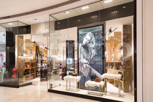 KUALA LUMPUR, MALAYSIA -  January 29, 2017: Aigner, high fashion houses, based respectively in New York City and Munich with outlet in Malaysia Stock Photo