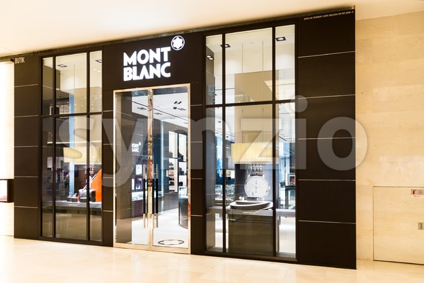 KUALA LUMPUR, MALAYSIA -  January 29, 2017: Mont Blanc is reator of Writing Instruments & Exquisite Jewellery with retail outlets in Malaysia Stock Photo
