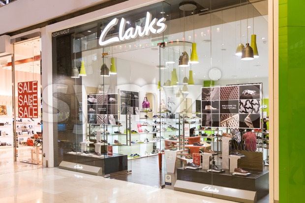 KUALA LUMPUR, MALAYSIA -  January 29, 2017: Clarks, is a British-based, international shoe manufacturer and retailer with stores in Malaysia Stock Photo