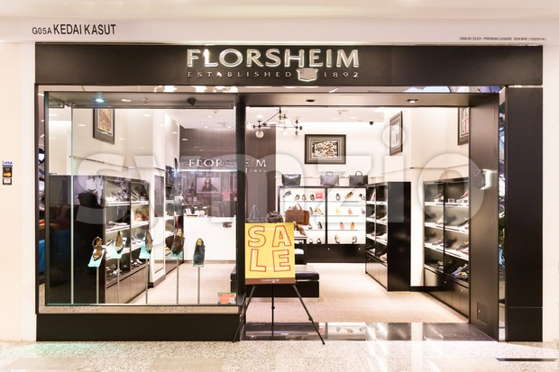 KUALA LUMPUR, MALAYSIA -  January 29, 2017: Florsheim is US based and manufacturer of comfortable shoes, and with outlet in Kuala Lumpur Stock Photo