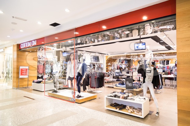 KUALA LUMPUR, MALAYSIA -  January 29, 2017: Cotton On is Australian retail chain, retails fast-fashion clothing for men, women, teenagers and children Stock Photo
