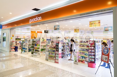 KUALA LUMPUR, MALAYSIA -  January 29, 2017: Guardian Pharmacy is healthcare chain retailer with more than 500 outlets in Malaysia Stock Photo