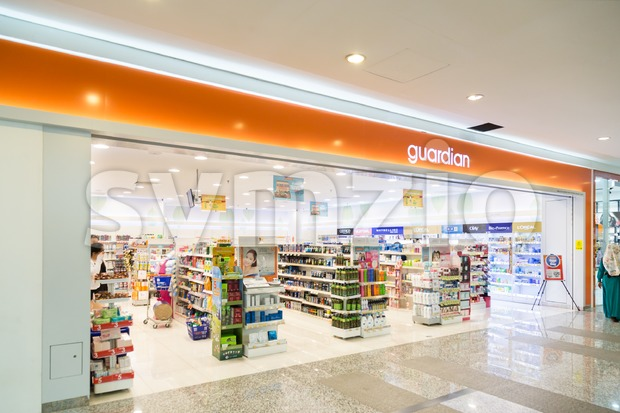 KUALA LUMPUR, MALAYSIA -  January 29, 2017: Guardian Pharmacy is healthcare chain retailer with more than 500 outlets in ...