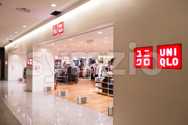 KUALA LUMPUR, MALAYSIA -  January 29, 2017: Uniqlo is international Japanese apparels retailer with outlets in Malaysia Stock Photo