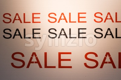 SALE word poster offer retail promotion discount Stock Photo