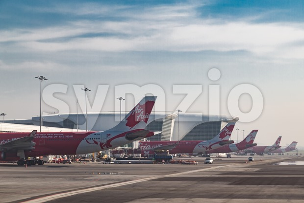 KUALA LUMPUR, MALAYSIA, February 12: KLIA 2 is the low cost terminal and home to AirAsia, leading low cost airline. Stock Photo