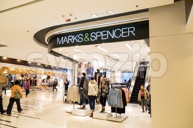 HONG KONG - January 29, 2017: Marks and Spencer plc is a major British multinational retailer with stores in Hong Kong Stock Photo