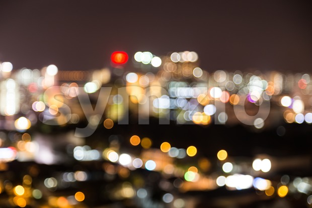 City lights blur bokeh defocused as background Stock Photo
