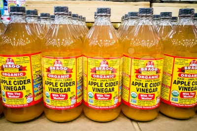 KUALA LUMPUR, MALAYSIA, February 15: BRAGG Organic Apple Cider Vinegar is now the market leader in the premium acv market segment in Malaysia with Stock Photo