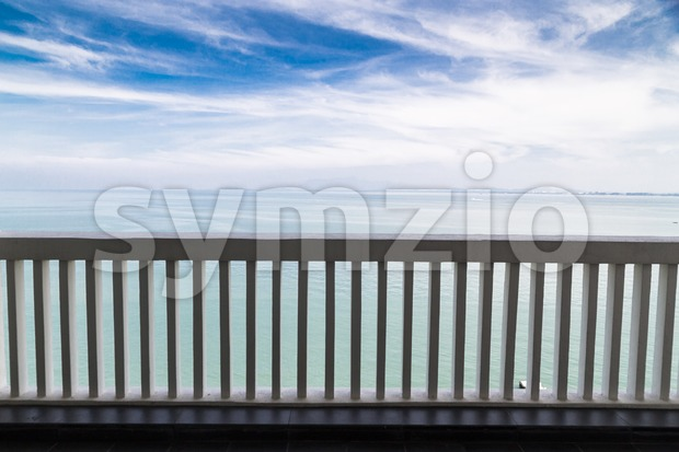 Balcony with relaxing breath-taking scenic sea view with horizon