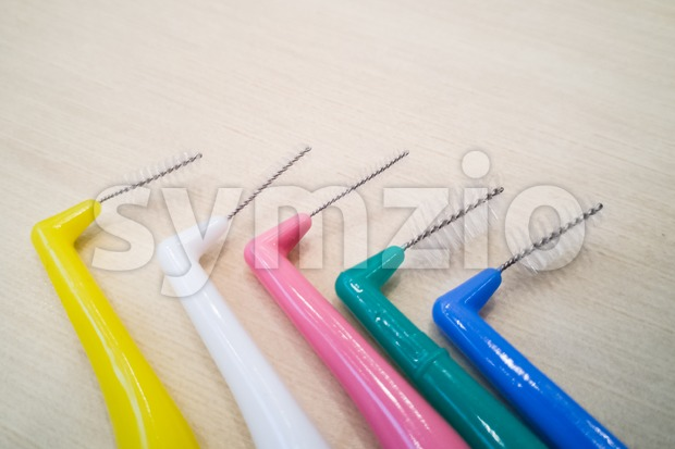 Various type of floss and inter-dental brushes for oral care hygiene