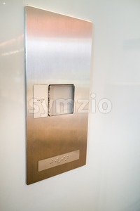 Brialle on elevator panel for users with vision disability Stock Photo