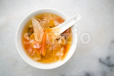 Traditional Chinese sweet dessert of fungus, ginkgo , longan, dates Stock Photo