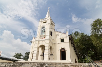 PENANG - February 10, 2016: St. Anne's Catholic Church is iconic tourism landmark  at Bukit Mertajam, Malaysia Stock Photo