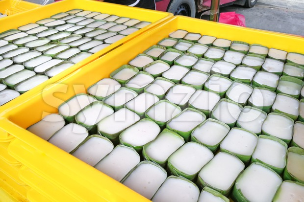 Tepung pelita, popular sweet dessert for Muslim iftar break fast Stock Photo