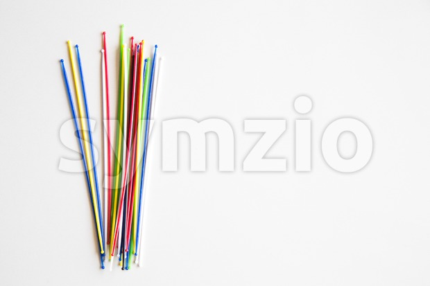Bundle of pick up sticks fun game Stock Photo