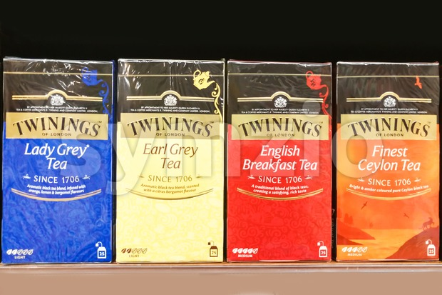 KUALA LUMPUR, Malaysia, June 25, 2017: Twinings is an English marketer of tea, based in Andover, Hampshire. The brand is ...