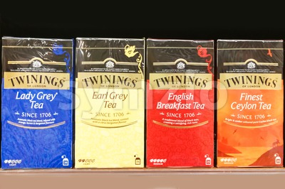 KUALA LUMPUR, Malaysia, June 25, 2017: Twinings is an English marketer of tea, based in Andover, Hampshire. The brand is owned by Associated British Stock Photo