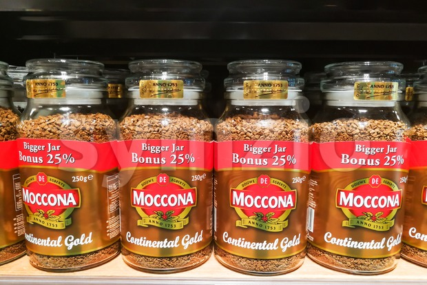 KUALA LUMPUR, Malaysia, June 25, 2017: Moccona is a brand of coffee produced by the Dutch corporation Douwe Egberts. ...
