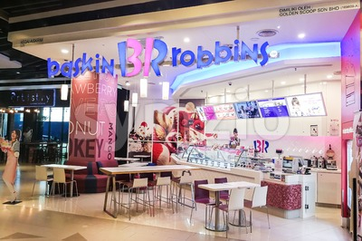 KUALA LUMPUR, Malaysia, June 25, 2017: Baskin-Robbins is the world's largest chain of ice cream specialty shop restaurants. Stock Photo