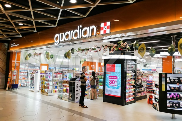 KUALA LUMPUR, Malaysia, June 25, 2017:  Guardian Pharmacy is the leading healthcare chain retailer with more than 500 outlets in Malaysia Stock Photo