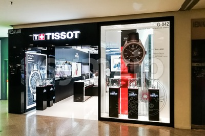 KUALA LUMPUR, Malaysia, June 25, 2017: Tissot is a Swiss watchmaker. The company was founded in Le Locle, Switzerland by Charles-Félicien Tissot and Stock Photo