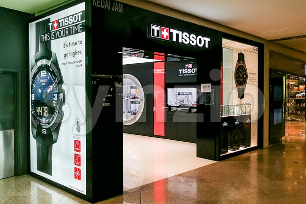 KUALA LUMPUR, Malaysia, June 25, 2017: Tissot is a Swiss watchmaker. The company was founded in Le Locle, Switzerland by ...