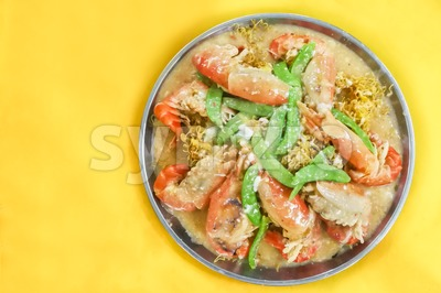Sang Har Mee or prawn noodle expensive delicacy in Malaysia Stock Photo