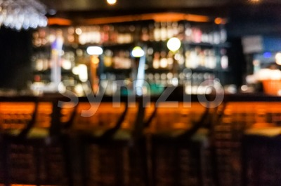Blur vision perspective view of a drunk person in pub Stock Photo