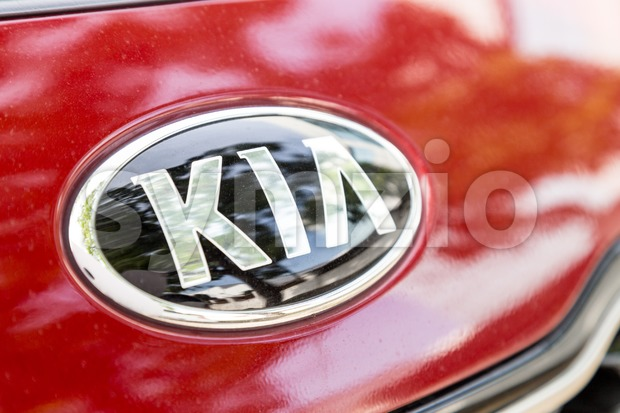KUALA LUMPUR, MALAYSIA - August 12, 2017: Kia Motor Corporation, headquartered in Seoul, is South Korea's second-largest automobile manufacturer, with ...
