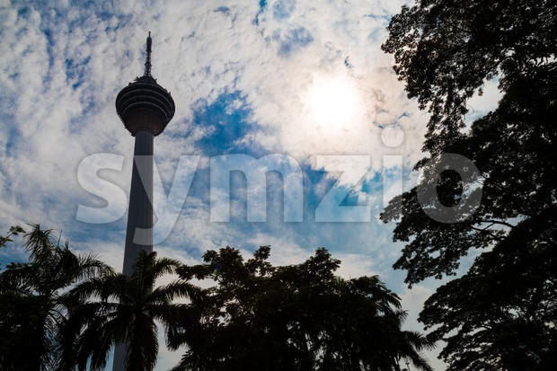 KUALA LUMPUR,  MALAYSIA, SEPTEMBER 16, 2017: KL Tower is the seventh-tallest tower in the world by pinnacle height at ...